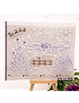 1pc Winter Christmas Transparent Clear Silicone Stamp/Seal for DIY scrapbooking/photo album Decorative clear stamp sheets
