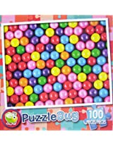 Puzzle Bug 100 Piece Puzzle ~ Brightly Colored Gumballs