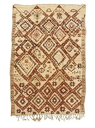 Mili Designs NYC Moroccan Beni Ourain, Cream/Orange/Red, 6' 1