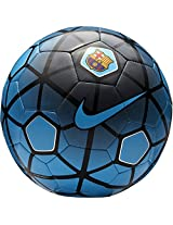 Nike FCB Supporters Football, Size 5 (Blue/Black/Silver)