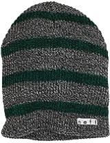 neff Men's Daily Stripe Beanie, Grey/Green, One Size
