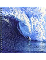 3dRose db_167236_1 Monster Wave a Daring Surfing Riding on Surfboard Drawing Book, 8 by 8-Inch