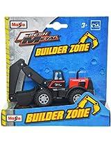 Maisto Builder Zone Excavator Die Cast Toy Truck (Red)