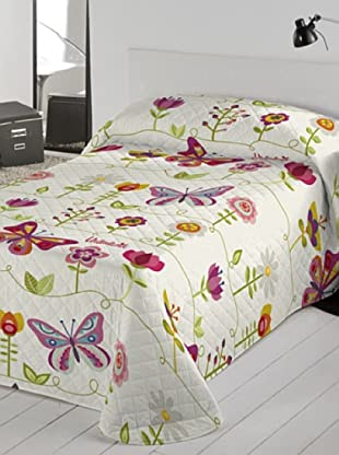 Colcha Bouti Two Butterflies (Multicolor)