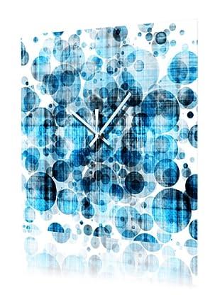 HangTime Designs Bleubbles Wall Clock, Blue