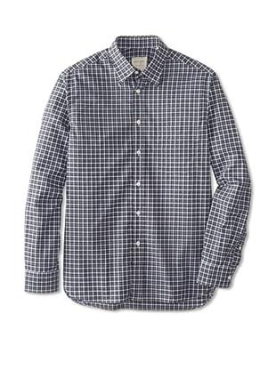Billy Reid Men's Orleans Woven Shirt (Green/Navy)