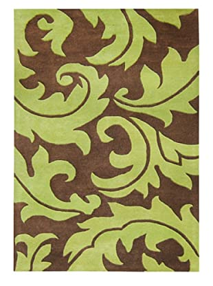 Horizon Casablanca Floral Rug (Brown/Green)
