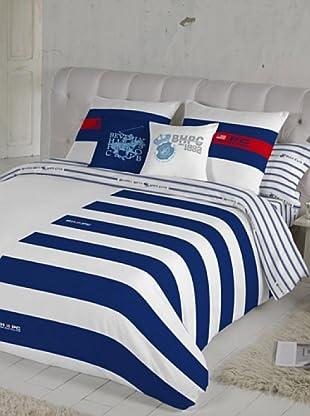 Beverly Hills Polo Club Juego de Fundas Nórdicas Fresno (Azul / Blanco / Rojo)