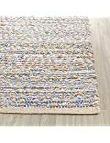 Safavieh Cape Cod Collection Cap351 A Handmade Natural And Blue Jute Area Rug, 2 Feet By 3 Feet (2 X 3)