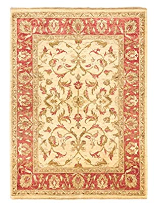 eCarpet Gallery One-of-a-Kind Hand-Knotted Chobi Rug, Cream, 4' 9