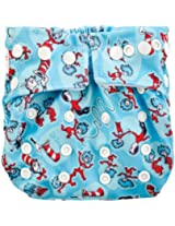 Bumkins Snap In One Cloth Diaper, Cat In The Hat By Bumkins