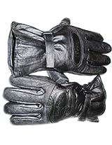 Star Leather Elegant Winter Gloves/ Bike Gloves/ Biker Gloves/ Motorcycle/ Bike Racing/ Riding/ Gym / Fitness / Full Fingers Gloves with Wrist Wrap & Best Grip For Men - Black