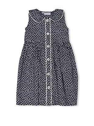 Rachel Riley Vestido Button Up (Marino / Blanco)
