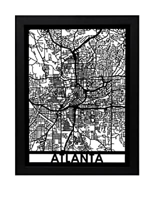 Cut Maps Atlanta Framed 3-D Street Map
