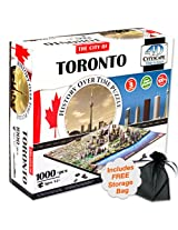 4D Toronto, Canada Cityscape Time Puzzle with Storage Bag