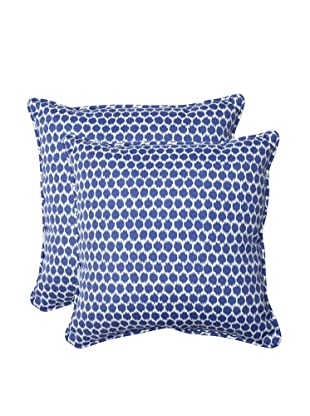 Pillow Perfect Set of 2 Outdoor Seeing Spots Throw Pillows, Navy
