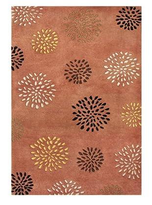 Znz Rugs Gallery Handmade Tufted New Zealand Blend Wool Rug (Rust/Black/Beige/Brown)