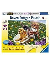 Ravensburger Frolicking Puppies Floor Puzzle (24 Piece)