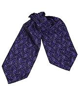 ERA1B08C Dark Slateblue Paisley Best Fashion Cravat Woven Microfiber Mens Ascot Valentines Gift Idea By Epoint