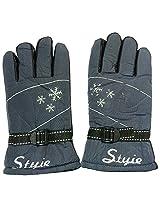 Graceway Unisex Leather Bike Gloves (5G26, Blue)