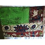 Green Kalamkari Saree With blouse piece
