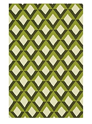 Venice Beach Indoor/Outdoor Rug (Green Trellis)