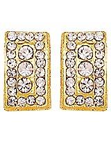 white n golden shiny earrings