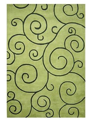 Horizon Scrolls Rug (Lime Green/Turf Green)