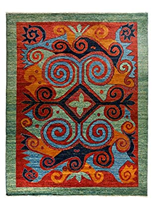 Darya Rugs Kaitag Oriental Rug, Green, 9' 5