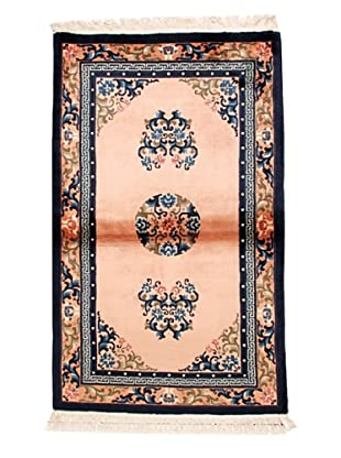 Roubini Chinese Antique Finish Rug, Light Pink/Peach/Navy, 3' 2