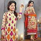 Hina Khan Latest Designer PeachPuff Ankle Salwar Kameez