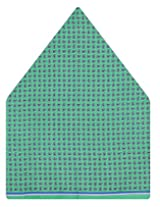 Tiekart Polka Print Silk Pocket Square (Ps453_Green)