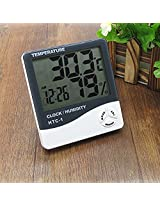 DivineXt Temperature Humidity Time Display Meter With Alarm Clock - Wall Mount Or Table Top