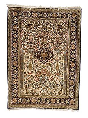 F.J. Kashanian Persian Ghom Rug, Beige/Black, 3' 6