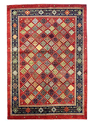Bashian Rugs One-of-a-Kind Hand Knotted Lori Rug, Red, 5' x 7' 3