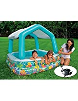 Intex Sun Shade Pool W/ Ac Pump