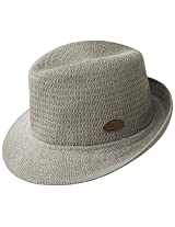 Kangol Mens K2025FA Needles Hiro Fedoras, Grey - L