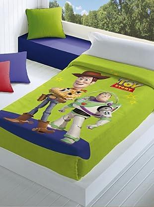 Disney Home Coperta Toy Story (Verde/Blu)