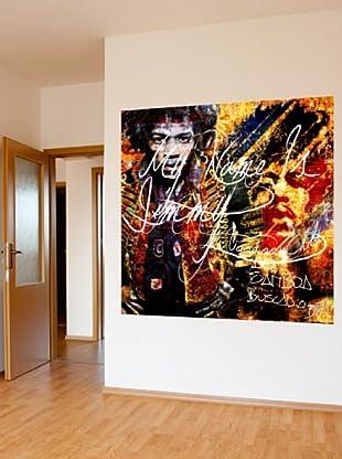 Vinilo Adhesivo artístico Jimmy Hendrix Multicolores