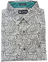 AA' Southbay Men's Black Paisley Print Cotton Long Sleeve Casual Shirt