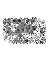 Heritage Lace Butterflies 14-Inch by 20-Inch Placemat, White, Set of 2