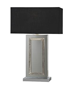 Stanton Table Lamp, Mirror/Black
