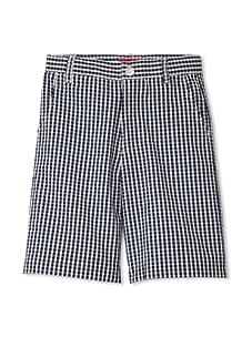 One Kid Boy's Seersucker Shorts (Ink White)