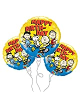 Peanuts Happy Birthday Mylar Balloon -3pk