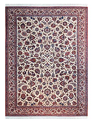 The Rug Market Esfahan Afari Rug, Ivory/Red/Blue, 6' x 9'