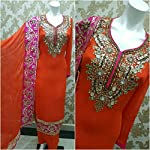 Red Georgette Dress Material With Dupatta