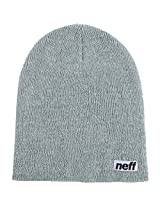 Neff Mens Optic Heather Beanie Hat Grey Heather/White/One Size AD
