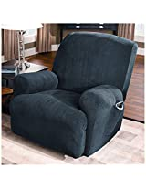 Sure Fit Stretch Pique Recliner Slipcover, Medium, Federal Blue