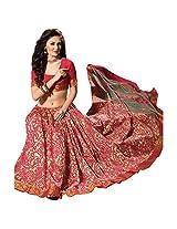 Ashika Printed Bollywood Designer Raw Silk Saree ,Sari (2403)