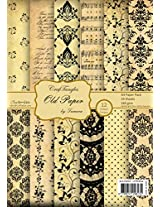 CrafTangles Scrapbook & Craft paper pack - Old Paper (A4 Patterned Paper)